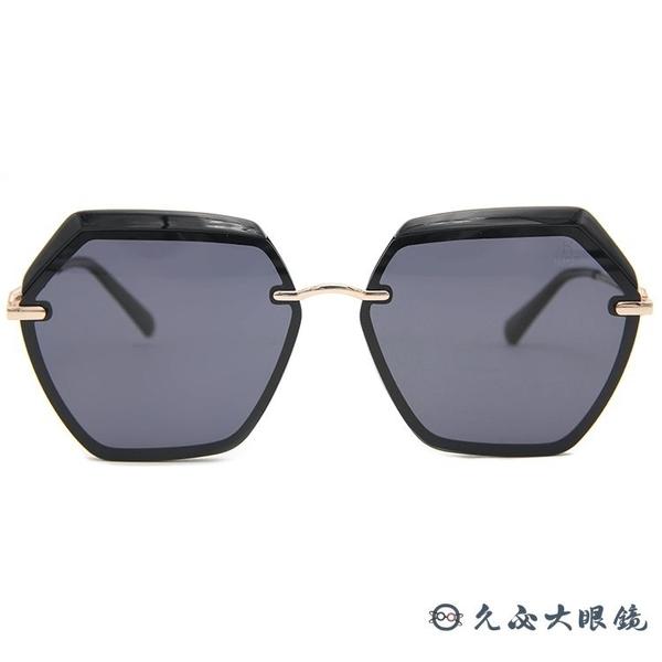 HELEN KELLER 林志玲設計款 H8827 (黑-玫瑰金) 偏光太陽眼鏡 久必大眼鏡