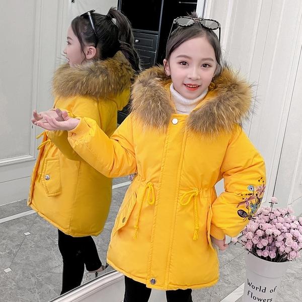 夾克外套兒童加絨棉服 時尚休閒女童外套女孩棉襖 潮流秋冬羽絨服羽絨外套 上衣韓版外套中大童