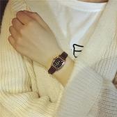 流行女錶 方表盤女士長方形手錶女生小表盤細表帶復古 初高中簡約氣質小表