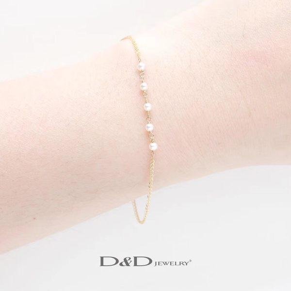 輕奢珠寶系列~ 585K天然珍珠手鍊 ♥