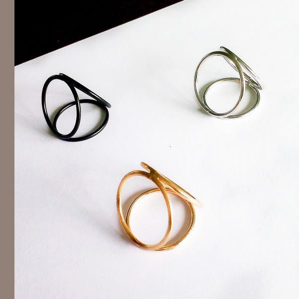錯覺空間系列~圓圈幾何戒指606512/3色