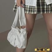手提包 云朵包包女2021春夏新款褶皺包通勤百搭腋下包側背手提包   【榮耀 新品】