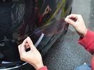 汽車保險桿漆面保護貼 保險杠防碰保護膜 防止愛車刮傷 4片裝【Q330】《約翰家庭百貨