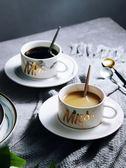 啞光陶瓷杯情侶咖啡杯碟套裝簡約歐式小奢華馬克杯辦公室下午茶具