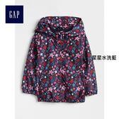 Gap女嬰幼童 印花針織襯裡防風長袖休閒上衣 329401-星星水洗藍