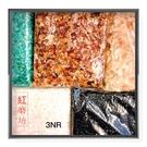 【紅磨坊】天然水晶500G碎石分色包裝100GX5 綠紅黃白黑(加持祈福)【Ruby工作坊】NO.3NR