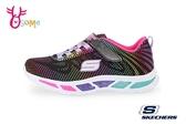 SKECHERS 運動鞋 女童 彩色 超輕量 電燈鞋 慢跑鞋 Q8233#黑彩◆OSOME奧森鞋業
