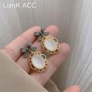 耳環 s925銀針蝴蝶結貓眼石耳環2021年新款潮高級感輕奢法式網紅耳釘女