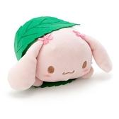 〔小禮堂〕大耳狗 迷你和菓子絨毛玩偶娃娃《粉綠.櫻花》擺飾.玩具 4901610-20086
