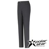 PolarStar 彈性抗UV窄管褲 女『黑灰』 台灣製 顯瘦直筒褲│釣魚褲│露營│防曬褲│西裝褲 P16354