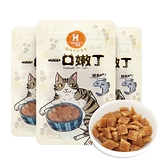 【Hyperr 超躍】一口嫩丁貓咪手作零食 鱈魚雞肉 3件組 (貓零食)
