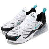 Nike 慢跑鞋 Air Max 270 白 黑 藍 大氣墊 大型後跟氣墊 舒適緩震 運動鞋 男鞋【PUMP306】 AH8050-001