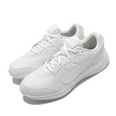 Nike 慢跑鞋 Varsity Leather GS 白 全白 女鞋 大童鞋 基本款 運動鞋 【ACS】 CN9146-101