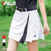 高爾夫裙 PGM夏季新品高爾夫裙子女短褲裙拼接短裙安全褲裙高爾夫半裙球裙-Ballet朵朵