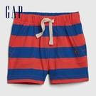 Gap男嬰舒適撞色條紋休閒短褲576998-鈷藍色