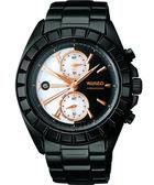 聖誕限量款 WIRED TWO FACE 計時手錶-珍珠貝+黑xIP黑 7T94-0BP0W(AGAV758)