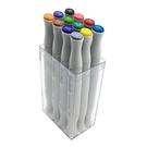 美國croma 軟毛雙頭 X5 麥克筆 透明盒 12色/組 4811-012