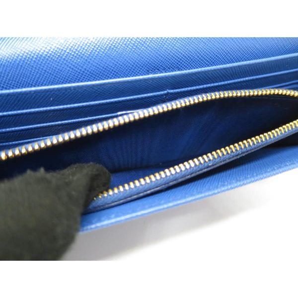 【特價13%OFF】PRADA 普拉達 天藍色蝴蝶結長夾 附票卡夾 1M1132【BRAND OFF】