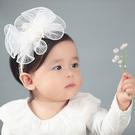 珍珠蕾絲花朵髮圈 髮帶 橘魔法 Baby magic 現貨 髮飾 禮服 全家福攝影 嬰兒 髮圈