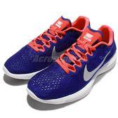Nike 慢跑鞋 Lunaracer 4 運動流行 藍 橘 銀 運動鞋 男鞋【PUMP306】 844562-414