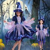 春季上新 萬圣節女巫服裝兒童小巫女公主裙幼兒化妝舞會巫婆cos裝扮演出服