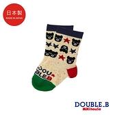 DOUBLE_B 日本製 黑熊&星星男童襪