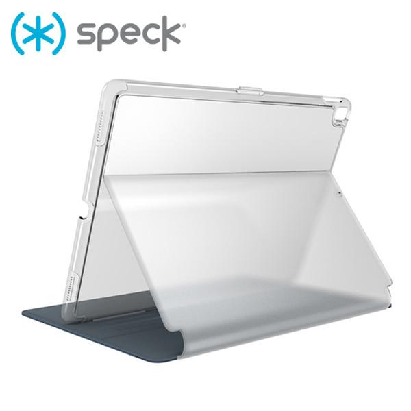 "Speck Balance Folio Clear iPad 9.7"" 2018/2017 多角度側翻皮套-海軍藍/透明背蓋"