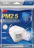 3M PM2.5 空污微粒防護口罩(5片包) #9501  耳掛式  *維康