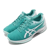 Asics 網球鞋 Solution Speed FF 綠 白 女鞋 運動鞋 舒適緩震 輕量 【ACS】 1042A002300