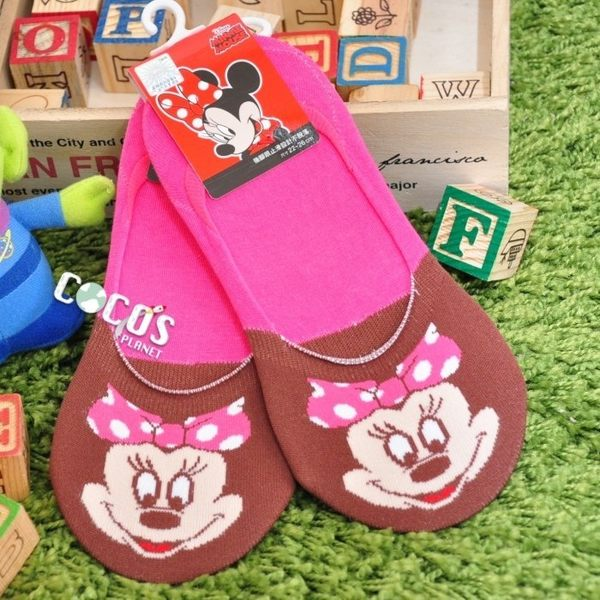 正版授權 迪士尼襪子 米老鼠 米妮 防滑短襪 船型襪 踝襪 止滑隱形襪 COCOS JD040