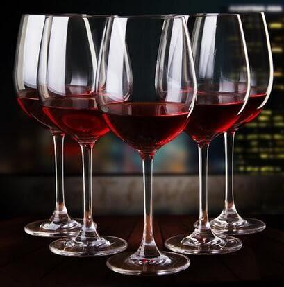 Bordeaux系列6只裝無鉛水晶高腳杯紅酒杯葡萄酒杯水晶酒杯