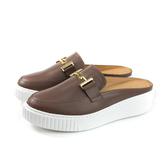 HUMAN PEACE 休閒鞋 懶人鞋 可可棕 牛皮 女鞋 8536 no380
