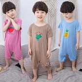 夏季薄款可愛印花連身睡衣 連身睡衣 睡衣 兒童睡衣 童裝 居家服