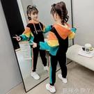 女童秋裝網紅套裝2020新款女孩洋氣秋冬時髦加絨兒童金絲絨兩件套 蘿莉新品
