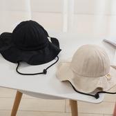 兒童帽子寶寶漁夫帽防曬遮陽帽女童盆帽男童太陽帽春秋百搭嬰兒帽