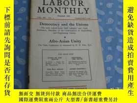 二手書博民逛書店LABOUR罕見MONTHLY 1958年第2期【月刊 】Y26