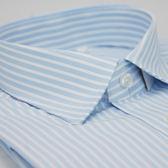 【金‧安德森】藍色寬排紋窄版長袖襯衫