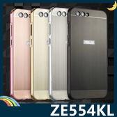 ASUS ZenFone 4 5.5吋 電鍍邊框+PC髮絲紋背板 金屬拉絲質感 卡扣二合一組合款 保護套 手機套 手機殼