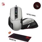 【A4 Bloody】W70 MAX 靈敏調校RGB彩漫滑鼠(未激活)-亮光白 贈$450 電競專用鼠墊