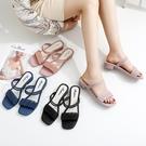 拖鞋女夏外穿韓版潮一字帶涼鞋兩穿【桃可可服飾】