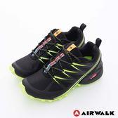 AIRWALK(男) - 雷電之光 撞色越野戶外運動鞋 - 綠閃黑