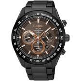 SEIKO精工 Criteria 太陽能計時手錶-鍍黑/43mm V175-0EE0KS(SSC587P1)