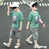 男童夏裝套裝2020新款男孩牛仔短褲帥氣中大童夏季韓版兒童短袖潮