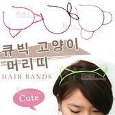 kiret 韓系鏤空細髮箍-貓耳朵 熊耳朵 蝴蝶款 超值3入 多色隨機