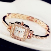 石英錶-奢華韓版時尚手鍊造型女手錶2色71r27[時尚巴黎]