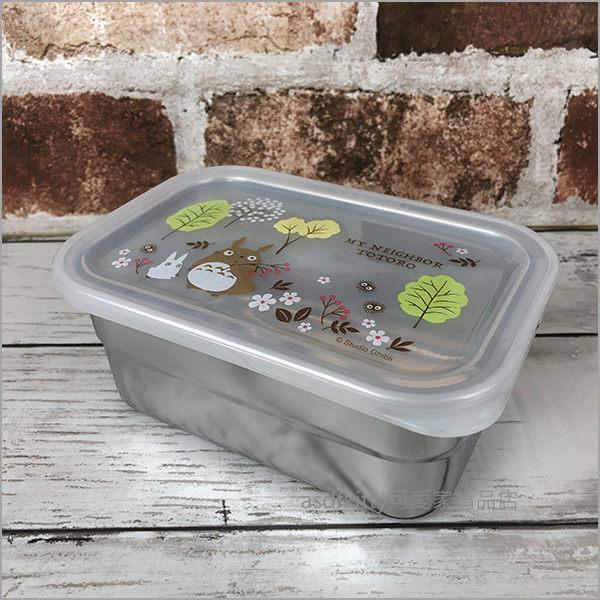 asdfkitty可愛家☆TOTORO龍貓花與樹長方型不鏽鋼保鮮盒/便當盒-580ML-日本正版商品