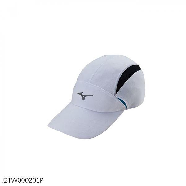 MIZUNO 帽子 運動 路跑 透氣 白【運動世界】J2TW000201P