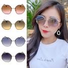 時尚名媛太陽眼鏡 多邊形鏡框設計 超高CP值 精品太陽眼鏡 網紅墨鏡 修臉神氣 抗紫外線UV400