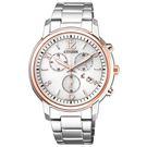 [萬年鐘錶] Citizen Eco Drive光動能 XC  碼錶 藍寶石玻璃  不鏽鋼錶殼錶帶   36mm FB1434-50A