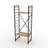 (組)特力屋萊特二層架黑框/淺木紋-60x40x158cm